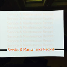 Audi Service Book - History Maintenance Record - New Blank