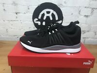 PUMA Men's Pacer Net Cage Shoes Sneakers Black and White Size 10
