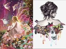 Diy 5D Butterfly Girl Fairy Diamond Painting Embroidery Cross Stitch Decor 2020