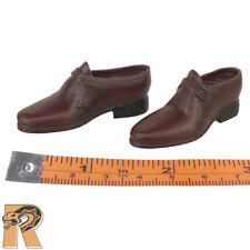 US Army Officer - Brown Shoes (for pegs) - 1/6 Scale - POP Toys Action Figures