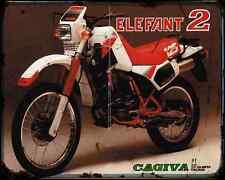 Cagiva Elefant 125 2 85 A4 Metal Sign Motorbike Vintage Aged