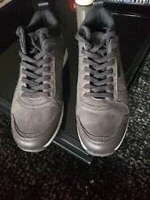 NWOB SONOMA Men's Size 11M Sneakers Shoes Gray Leather Canvas Lace Up