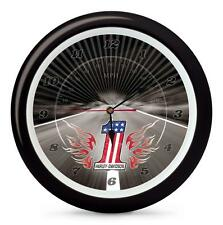 "New Genuine Harley Davidson 13"" Number One Logo Sound Boxed Wall Clock Biker"