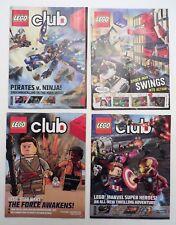 LOT 6 LEGO CLUB MAGAZINES Star War, Avengers, Ninja, and Spider-Man