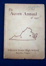 1947 Jefferson High School Yearbook Roanoke VA - The Acorn
