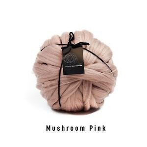 2kg Mushroom Pink Mammoth®   Giant Super Chunky Extreme Arm Knitting Big Yarn