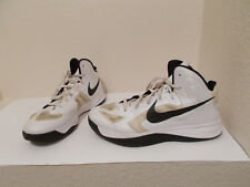 NIKE ZOOM HYPERFUSE MEN'S BASKETBALL SNEAKERS 525019-100 WHITE/TAN/BLACK SIZE 15