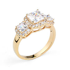 VINTAGE INSPIRED 18K ROSE GOLD PLATED GENUINE CLEAR CZ & AUSTRIAN CRYSTAL RING