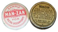 Man Zan Vintage Rectal Discomforts Sample Tin Advertising Medicine