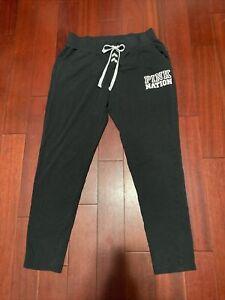 Victoria Secret Pink Sweatpants Size M Black