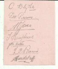More details for c1907 england test players (14) album page, originally signed, very rare!