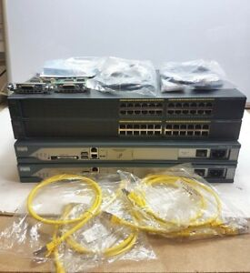 CISCO CCNA CCNP LAB KIT 2811 ROUTER 2960 SWITCH WIC CARDS DTE DCE CABLES