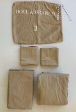 5 Pc Sheet Set Boll & Branch DUNE TAN Beige KING Soft 100% Organic Cotton EUC