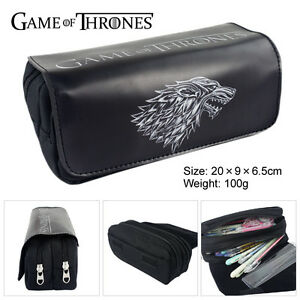 Game of Thrones Cosplay Pencil Case Cosmetic Makeup Travel Bag Stationery Bag