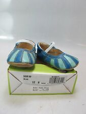 LIVIE & LUCA Infant DAWN Blue Leather Crib Shoes 12-18 Months (1303117)