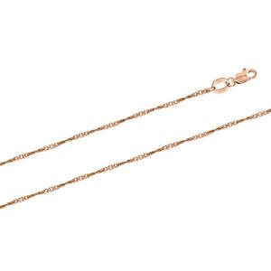 """Kette / Armband """"Singapur"""" Russische Rosegold 585 (14 Karat) 1,47 mm breite"""
