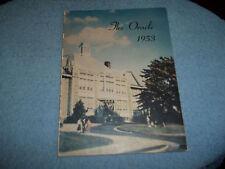 "1953 ABINGTON HIGH SCHOOL YEARBOOK ABINGTON PA ""ORACLE"""