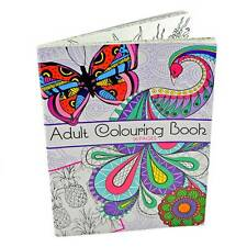 96 Page Adult Colouring Book Stress Relief Realxation Art Therapy Colour Calming