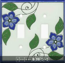 Blossoms Blue Ceramic Switch Plates, Wall Plates & Outlet Covers