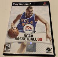 NCAA Basketball 09 PS2 PlayStation 2 Game 8J Kids College 2009 UCLA CIB Works