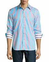 ROBERT GRAHAM STRIPED STREtCH LIMITED COMFORT MODERN FIT MENS HEMD SHIRT XXL