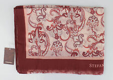 New In Box STEFANO RICCI Red with Paisley Pattern 100% Cashmere Scarf $595