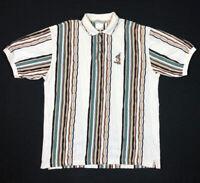 Vtg Disney Winnie Pooh Tigger Mens Coogi Style Knit Polo Shirt XL 90s B6
