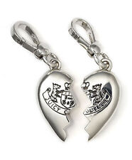 Juicy Couture Charm BFF Broken Heart Silvertone NEW Boxed $68