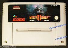 MORTAL KOMBAT 2 II jeu video ancien SUPER NES cartouche NINTENDO testée Europe