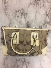 Coach Classic C Logo Large Tan Handbag Purse