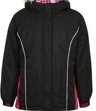 Girls  Black Padded  ski Jacket  fleece lined Aged 4-5 Years BNWT