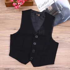 Boy Kid Gentleman Formal Suit Vest Waistcoat Tuxedo Wedding Party Outwear Jacket