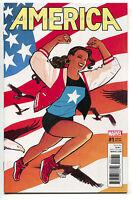 America 1 Marvel 2017 NM 1:50 Cliff Chiang Variant LGBT USA Flag Bald Eagle