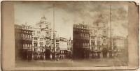 Venezia Place Sant' Marc Italia Fotografia Stereo Vintage Albumina c1860