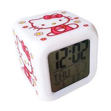 LED Digital Alarm Clock hello kitty Colorful LED Backlight temperature calendar
