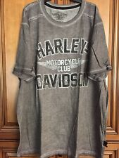 New Gr Harley Davidson Motorcycle Willie G Mens Distressed Gray Shirt 3XL or XL