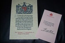 GREAT WAR  DEATH / CASUALTY SCROLL & KINGS LETTER REPRODUCTION MADE TO ORDER