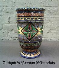 B20150417 - Superbe vase en céramique rouge-fontaine Baudour - Pièce unique
