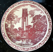 Mountain Lake SINGING TOWER, Lake Wales, FL*Red Wine Maroon Vernon Kilns Plate