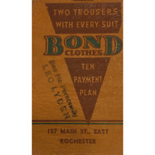 Vintage Bond Clothes 1938 Advertisement Mini Notepad Tailor Rochester NY
