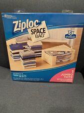 Ziploc Space Bag 1 Jumbo Tote + 4 Large Flat Storage Bags Waterproof