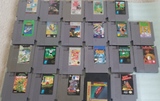 ORIGINAL NINTENDO SYSTEM GAMES LOT of 22 NES VIDEO GAMES TESTED
