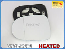 RENAULT CLIO MK3 2008-2012 Wing Mirror Glass Wide Angle HEATED Left Side /H026