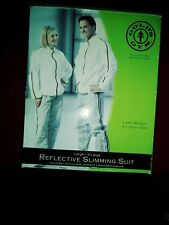 Golds Gym New Adult slimming Suit Size: L -XL in Box! white/gray.Make offer