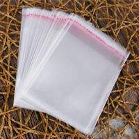 100* Plastic Clear Transparent OPP Self Adhesive Seal Bag Resealable Poly Bags