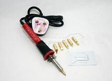30W Wood Burning Soldering Tool Set Pyrography Kit Brass Tips CE Spare Tip 68435