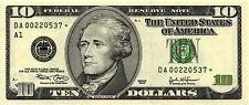 2003 $10.00 Federal Reserve Star Note - Boston - Fr# 2037-A* - DA00220537* CH CU