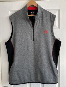 Mens Lightweight Zip Neck Adidas Golf Gilet Top, Size XL, Pristine Condition