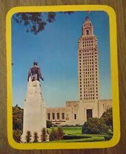 Huey P Long Monument Baton Rouge Louisiana Vintage Post Card