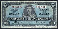 Canada 1937 Five Dollar PK 60c VF
